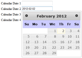 JQuery DatePicker Widget Example