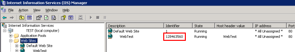 Get the Site Id in IIS6