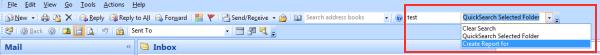 Outlook Custom Search Fields