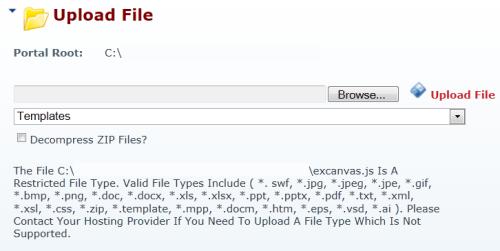 DotNetNuke File Type Error