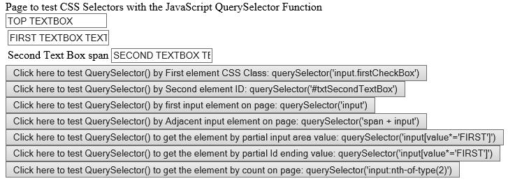 JavaScript QuerySelector