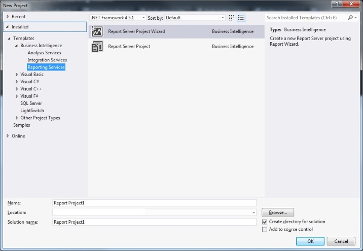 SSRS with Visual Studio