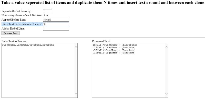 Duplicate Text Tool