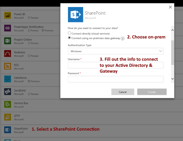 PowerApps Connection Setup