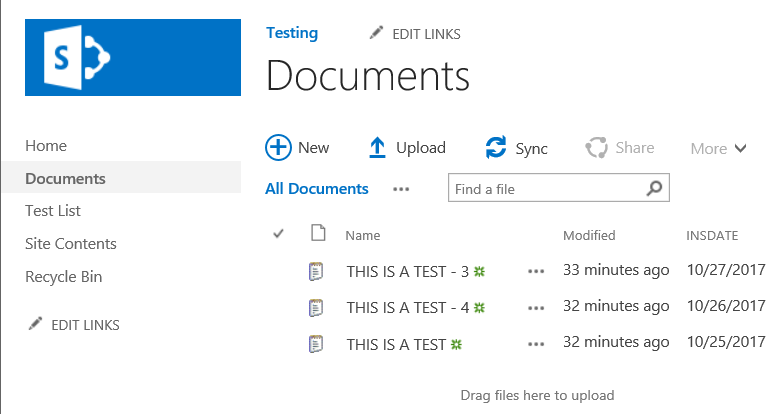 SharePoint Documents List